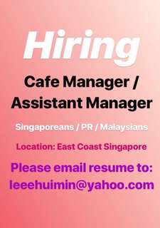 Cafe Manager / Assistant Manager