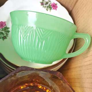 Green Tea Cup with Matching Saucer