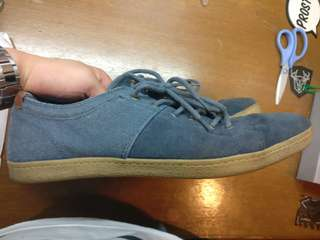 Pull and Bear Blue Suede Casual Shoes size 43 US 10