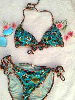 Floral Teal Bikini