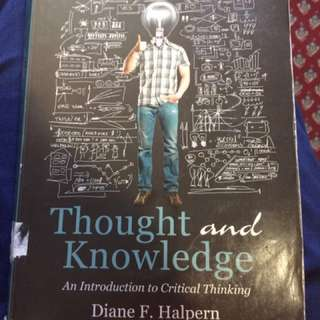 ❗️REDUCED❗️5th Edition Thought And Knowledge Textbook
