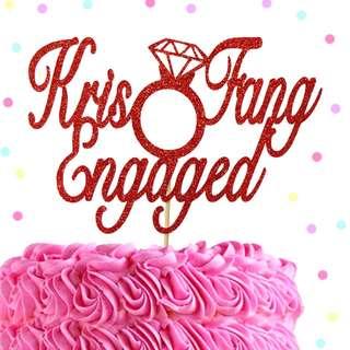 Custom Wedding Cake Topper, Anniversary Cake Topper, Engagement Cake Topper