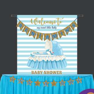 [ Rental ]  👶 Baby 👦 Boy Shower Deco Package