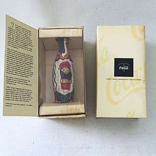COCA COLA Coke The Contour Collection Miniature Folk Art Bottle Singapore 02365