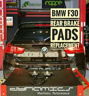 BMW F30 (1 Series) : Original Rear_Brake_Pads with Brake_Sensor replacement.