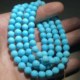 ✥松石✥玉化高藍108佛珠