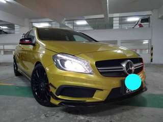 SAMBUNG BAYAR/CONTINUE LOAN  MERCEDES A45 AMG TURBO YEAR 2013/2016 MONTHLY RM 3600 BALANCE 7 YEARS + ROADTAX VALID TIPTOP CONDITION  DP KLIK wasap.my/60133524312/a45