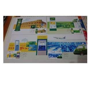 中國郵政120周年 極限明信片