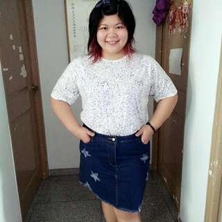 Women Plus Size Jeans Skirt