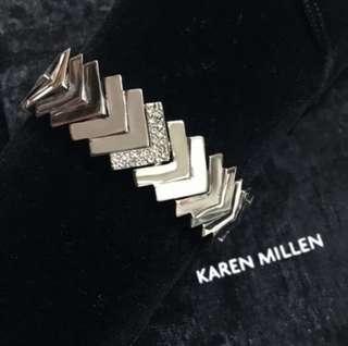 (NEW) Karen Millen Chevron Crystal Bracelet