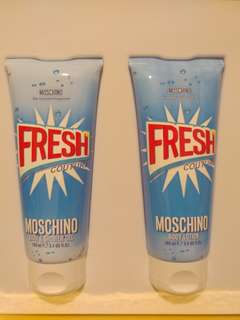 MOSCHINO FRESH COUTURE shower gel & body lotion
