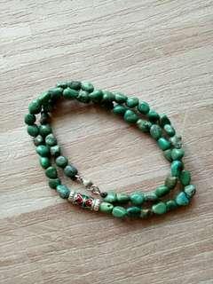 🚚 不規則老綠松項鍊
