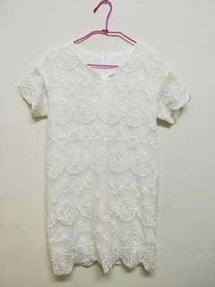 細緻刺繡布蕾絲洋裝