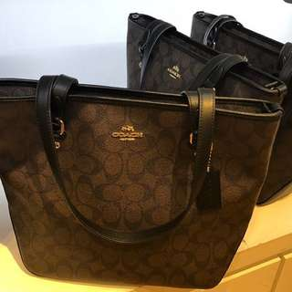 Authentic Coach Top Zip Tote