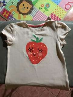 H&M Strawberry Shirt 12-18 mos.