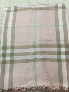 Authentic Burberry London Giant Check Fringed Wraps
