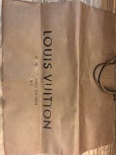 LV Louis Vuitton paper bag (Large)