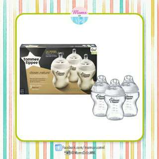 ‼️NEW‼️TOMMEE TIPPEE Closer To Nature Bottle 9oz/260ml 3pack