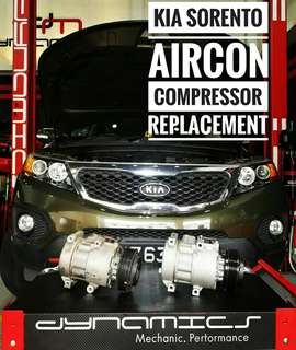 KIA Sorento : AirCon Compressor Replacement