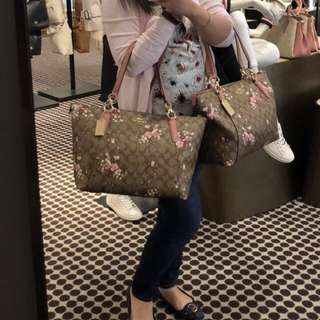 Authentic Coach Ava Tote Floral Limited Edition