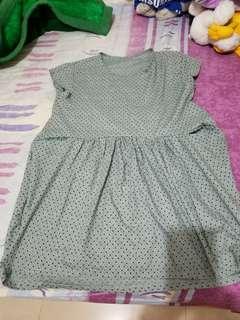 碎花娃娃裝及膝裙