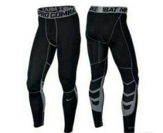 NIKE Men Pro Combat Compression Leggings Tights