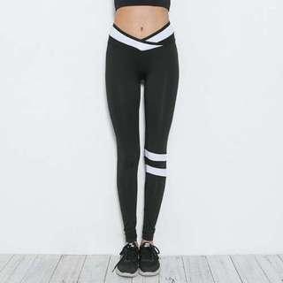 修身交叉瑜伽運動褲/Yoga pants