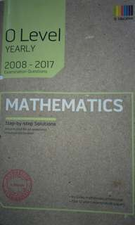 2008-2017 O level TYS Maths(yearly)-New