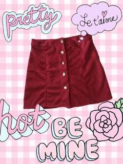 Cherry Red Skirt (A Line) 🍒