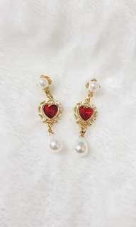 Kr Bora Red Gem Earrings