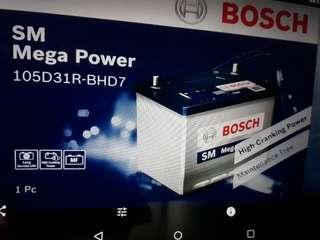 Car Battery Bosch Battery                              SM Mage Power                                                            S4 105D31L 80AH 710CCA                           1 Year Warranty