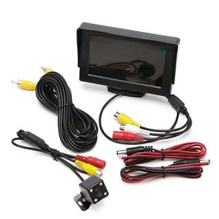 Car Parking 4.3 TFT LCD color display monitor + Rearvie