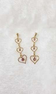 Kr Aurora Princess Hearts Earrings