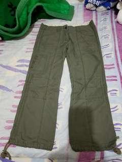 Baleno軍綠色束腳褲