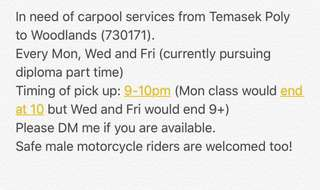 Looking for Carpool from TP