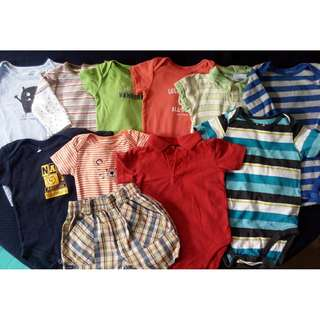Preloved baby boy clothes onesies 6-9 months