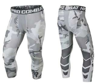 Nike Pro Combat 3/4 Compression Tights Camo