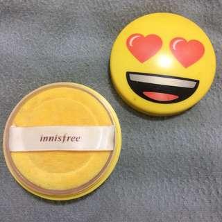 innisfree no sebum mineral powder emoji