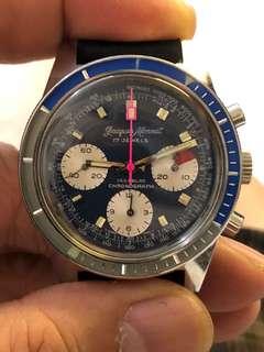 1960 Jacques Monnat manual winding chronograph