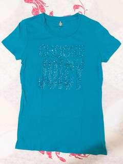 購於美國Juicy Couture logo字母閃鑽短袖上衣T恤
