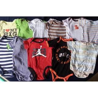 preloved baby onesies clothes 0-6 months