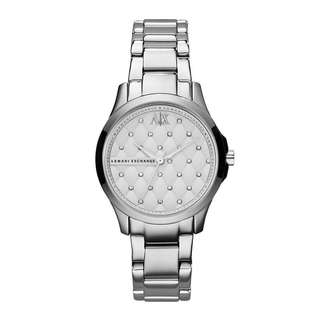 Armani Exchange Silver Hampton Crystal Quilted Dial AX5208 Women's Watch