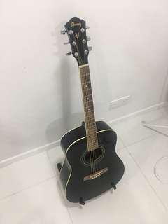 Ibanez Black Acoustic Guitar V105SJP