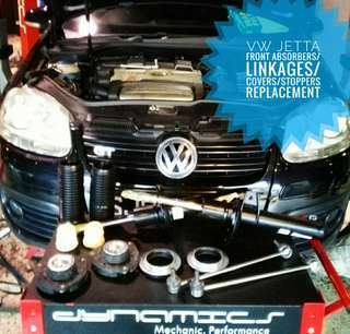 Volkswagen Jetta : Original Front_absorbers/Linkages/Covers/Stoppers replacement.