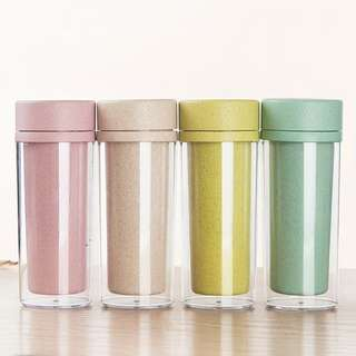 Hot Sale Double Wall Wheat Straw Travel Bottle (FREE POSTAGE)