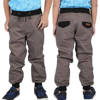 Celanan joger anak laki katun abu ori cotenzo junior CJR-CBE106
