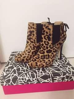 Diane Von Furstenberg Real Leather Boot 豹紋真皮靴