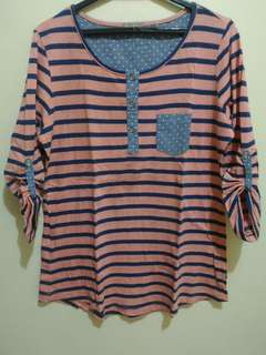 Blouse Stripes (three-fourth sleeves)