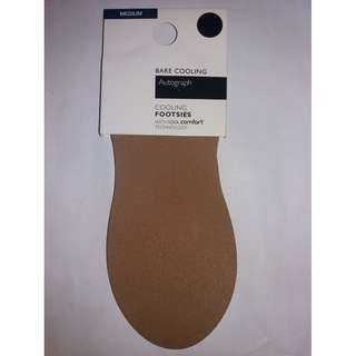 BNWT (2 Pairs for $10) Natural Tan Cooling Footsies - Size M / UK 3 - UK 5 / EUR 35.5 - EUR 38