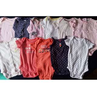 preloved baby girl clothes onesies 0-3 months